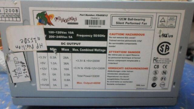 LOGISYS PS480E12 BALL BEARING SWITCHING POWER SUPPLY