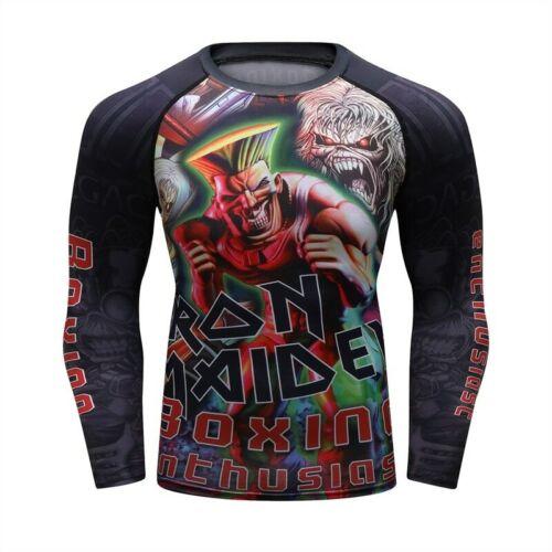 Iron Maiden Jiu Jitsu Rash Guard BJJ MMA Guile No Gi Brazilian Jiujitsu Gracie