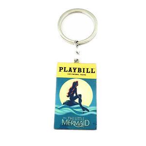 Cinderella Broadway Production Silvertone Charm Pendant Keychain