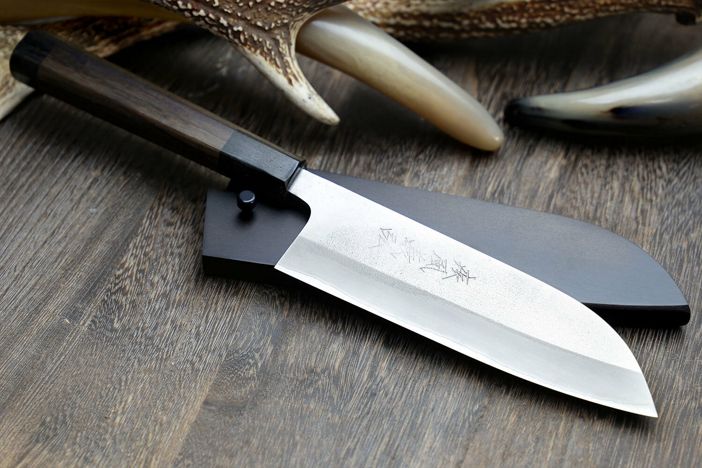 Yoshihiro Aoko Bleu Haut Carbone Inoxydable Clad Santoku chef couteau (7  (180 mm))