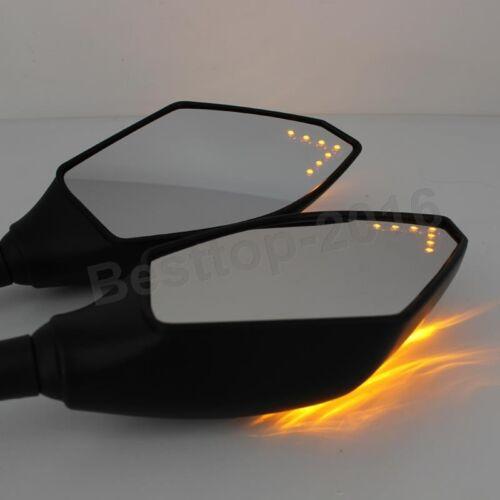 LED TURN SIGNAL REAR VIEW MIRRORS FOR 1999 2000 2001 YAMAHA YZF-R1 YZF R1 R6 R6S