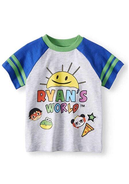 """/""""Size 4/"""" Ryan/'s World Boy/'s Graphic Tee Shirt  Titan Sun Sunshine Superhero"""