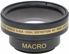 HD Wide Angle with Macro Lens For Sony DCR-DVD650 DCR-DVD850 DCR-HC52
