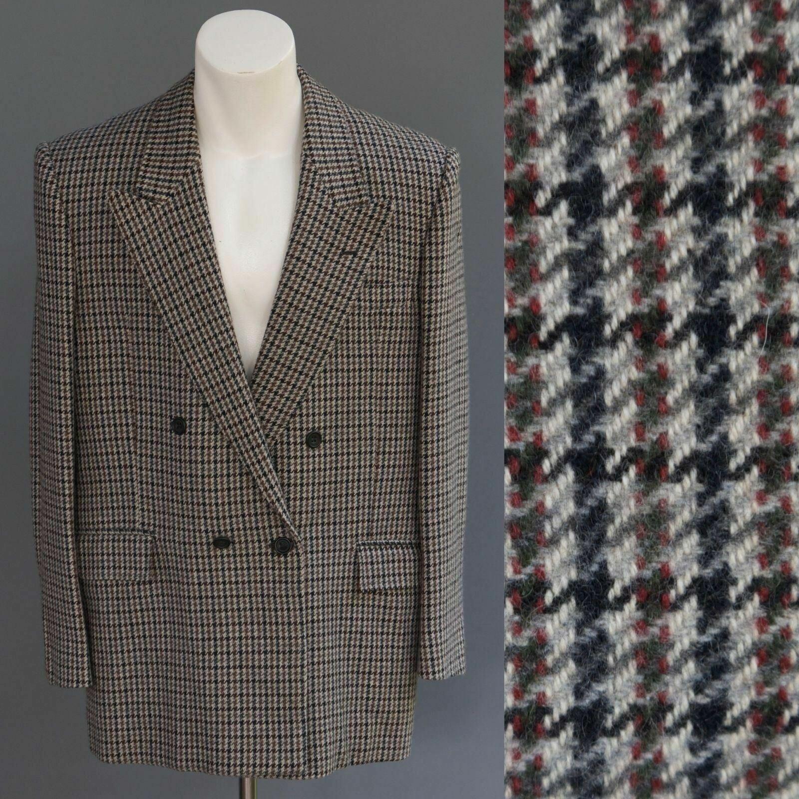 Umberto Corrieri 100% Cashmere grau Houndstooth Tweed jacke
