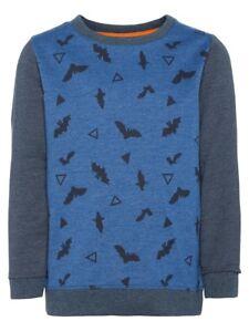 NAME-IT-Sweatshirt-Pullover-NMMValexo-blau-Fledermaus-Groesse-92-bis-122-128