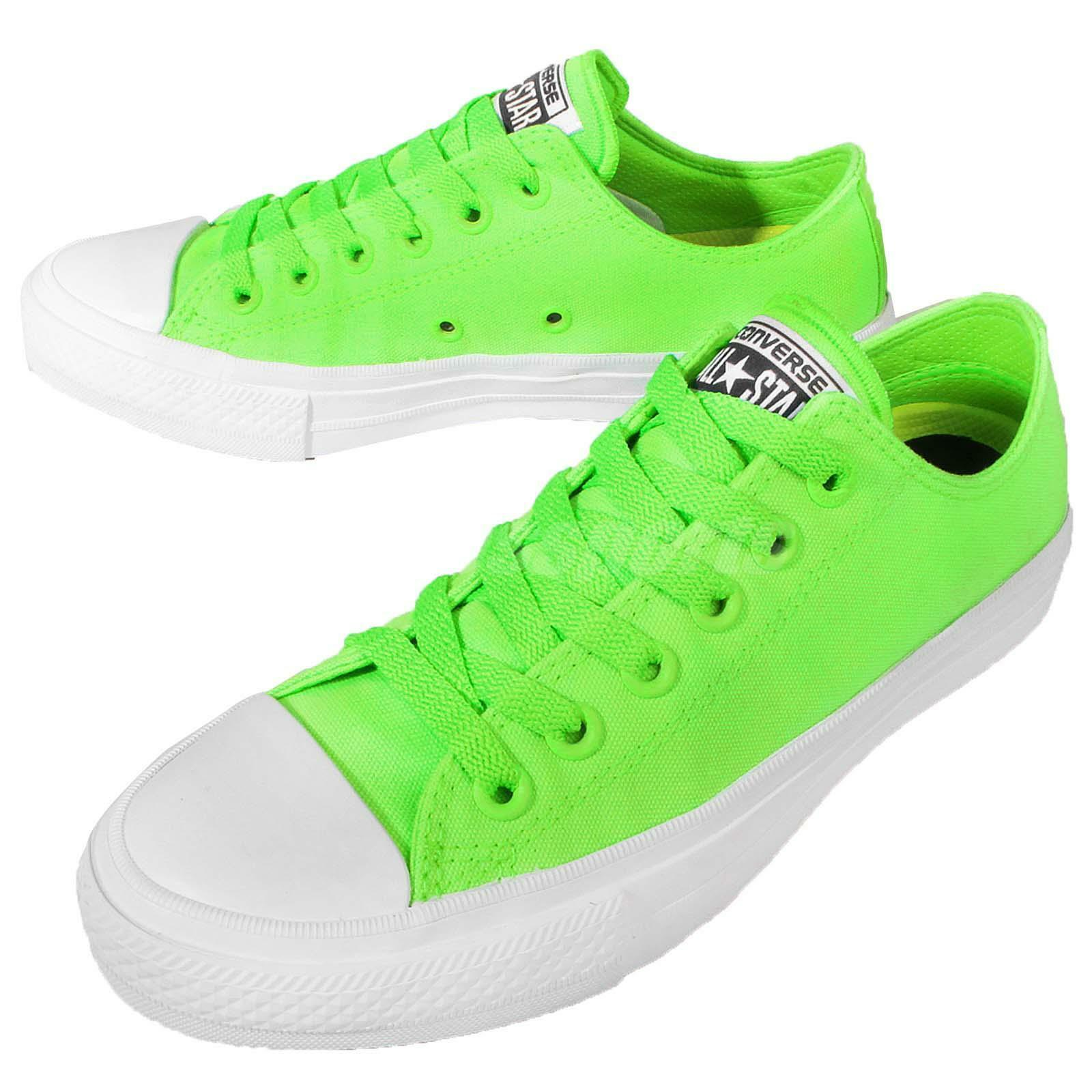 1a88f68be068 Converse Chuck Taylor All Star II OX Neon Green Green Green White Men  Casual Shoes 151122C
