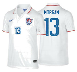 best website 19da5 2725b Details about NIKE ALEX MORGAN USA USWNT YOUTH HOME JERSEY FIFA WORLD CUP  2014.