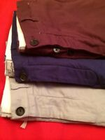 "NEW MENS EX NEXT PANTS SLIM FIT TROUSERS BLUE STONE PLUM SIZES 32""34""36""40""WAIST"