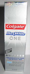 Dentifrice COLGATE MaxWhite ONE menthe fluor 1 TEINTE DE BLANC EN + en 1 semaine