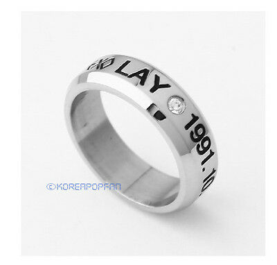 EXO-M LAY EXO FROM PLANET STAINLESS STEEL RING NEW FREE SHIPPING