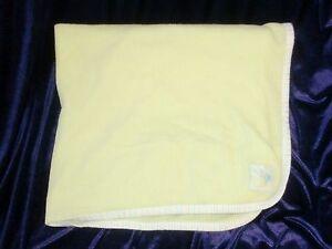 Tykes Carters Light Green THERMAL Waffle BEE STRIPE EDGE Baby Blanket EUC