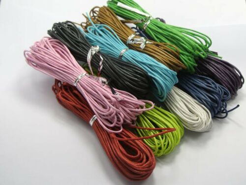 100 Meters Mixed Color Waxed Cotton Beading Cord 1.5mm Jewelry String 10 Color