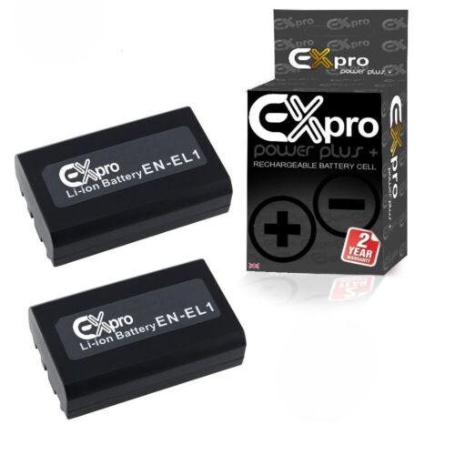 Cámara Digital ex-Pr Batería EN-EL1 ENEL 1 para Nikon Coolpix 995 880 5700 2 Pack