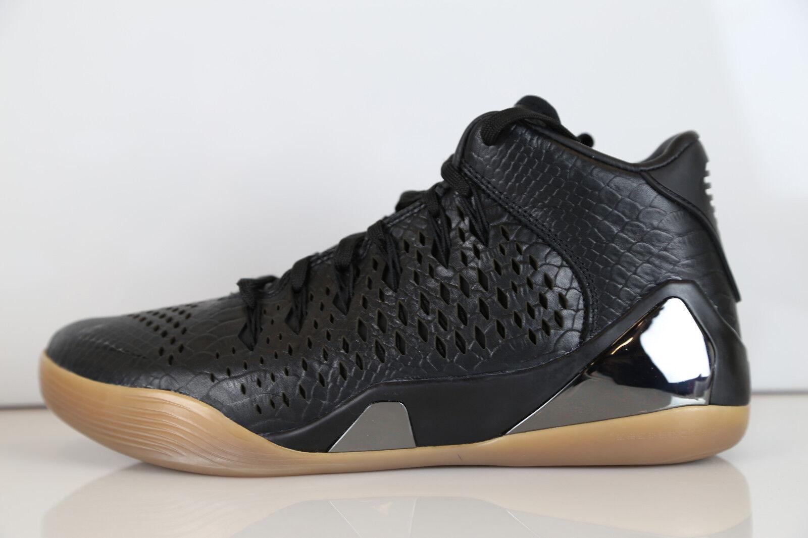 Nike Kobe IX Mid EXT QS nero Gum Snake 704286-001 10.5 9 supreme