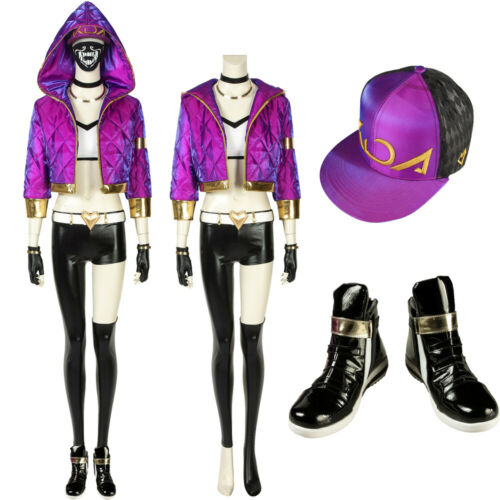 LOL League of Legends KDA Akali cosplay costume custom made