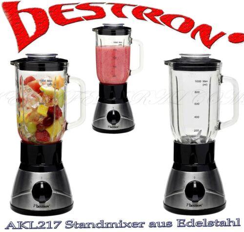 Profi Standmixer Bestron AKL 217 Küchen Milchshake Mixer 400W Eis Ice Crusher 1L