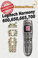 Logitech Harmony 600 650 665 700 Remote Control Button repair kit(no deoxit)