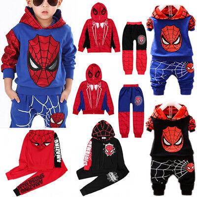 Kinder Jungen Spider Man Kleidung Kapuze Tops Hose Sports ...