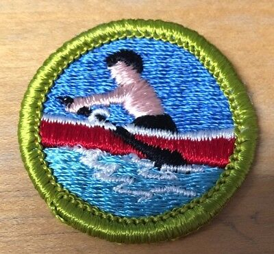 BOY SCOUTS ROWING  MERIT BADGE  TYPE G  NEW