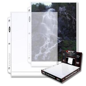 20-loose-BCW-Brand-1-Pocket-3-Ring-Binder-Album-Pages-8-x-10-Photo-Holder-Sheets