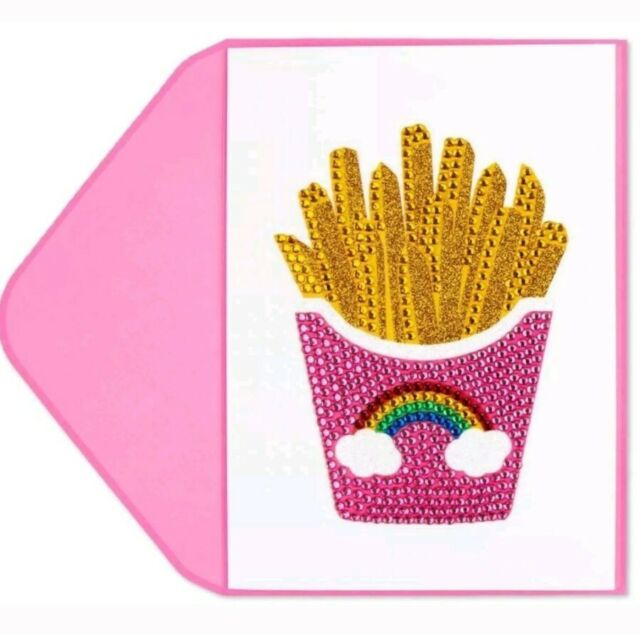 Papyrus Rainbow Fries Birthday Card Designs By Judith Leiber Couture BLING GEMS
