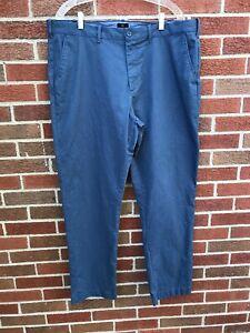 J-Crew-Flex-Sutton-Slim-Fit-Flat-Front-Blue-Chinos-Pants-Men-039-s-Size-38-x-32