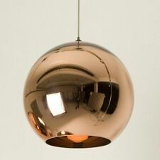 Modern Gold Globe Metal Glass Chandelier Pendant Light Chrome Finish Ceiling Lam
