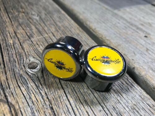 CAMPAGNOLO HANDLEBAR PLUGS BAR END CAPS CAP PLUG BARTAPE PLUGS ITALY CYCLO LINEA