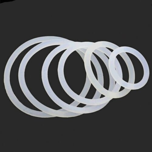 White Silicone O-Ring Gaskets Seals Rubber Gasket Clamp Free P/&P OD 3mm-60mm