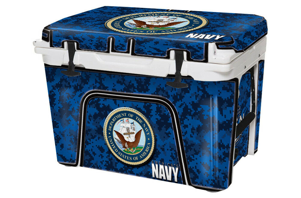 USATuff Custom Cooler Decal Wrap fits YETI Tundra 125qt FULL US Navy Digi Camo