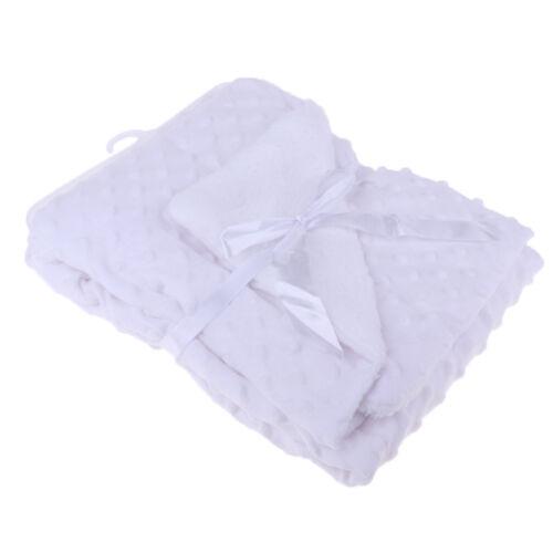 Newborn Baby Girls Boys Bubble Fleece Swaddle Blanket Comforter Cot Pram