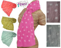 Ladies scarf with Daisy Flowers print superb quality available in 6 colours