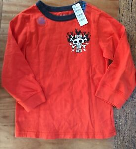ad5a8dd91 The Children's Place NWT Orange Long Sleeve T-shirt Size 4T Guitar ...