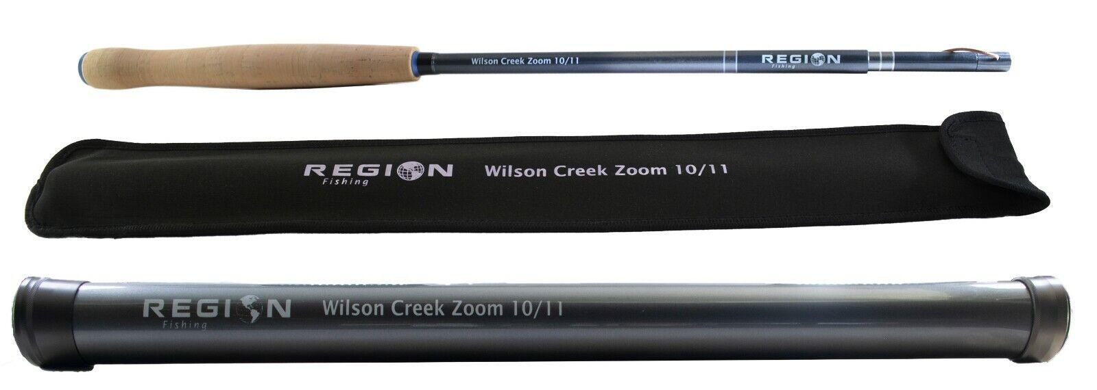 Tenkara Fly Rod-Wilson Creek Zoom 10' 11' - japonés de fibra de carbono