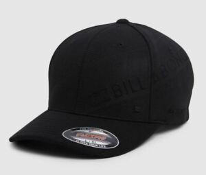 BILLABONG CAP HAT NEW MENS  STATION BLACK STRETCH FIT  Arch Brim Surf Logo Skate