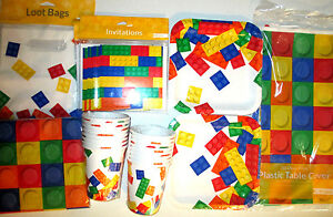 block party lego birthday party supply deluxe kit w loot bags