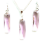 made with genuine Swarovski Crystals Earrings// Pendant or Set LIGHT  AMETHYST