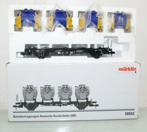 Märklin Spur 1 58553 Behältertragwagen Roßberg Eier-Nudeln DB in OVP LA1031