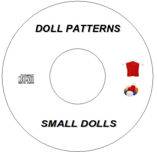 """20/"""" SMALL DOLLS KNITTING PATTERNS CD  CLOTHES INC SINDY BARBIE TYPE 10/"""""""