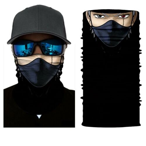 3D Skull Shield Face Guard Headband Bandana Headwear Ring Head Scarf Comic Char