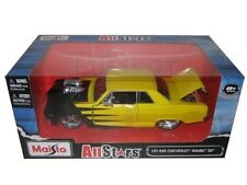 MAISTO ALL STARS 1965 CHEVROLET MALIBU SS YELLOW 1/24 DIECAST CAR 31138YL