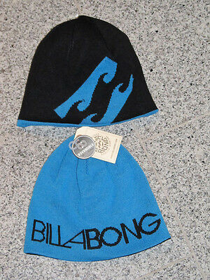 """Men's Accessories Billabong """"revisit"""" Wende Beanie MÜtze Blue Black Neu Let Our Commodities Go To The World Hats"""