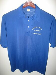 Russell athletic vintage 1970 39 s usa mesh royals youth for Soccer coach polo shirt