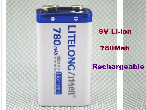 1 Batterie 9V Li-ion 780Mah Rechargeable 6LR61 Accu Battery Pile Accus 9 volts