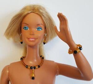 "Citrine DOLL JEWELRY for 18"" SUPERSIZE BARBIE & similar sized dolls - NO DOLL"