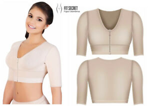 52875a1786115 Bra with Sleeves Cover Upper Arms Post Surgery High Compression ...