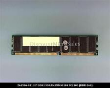 HP 261586-051 DDR 2GB PC-2100 Reg ECC 266Mhz RAM Memory