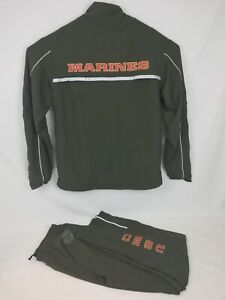 New-Balance-USMC-Marines-PT-Track-Suit-Mens-Medium-Reg-Pants-Med-Long-Jacket