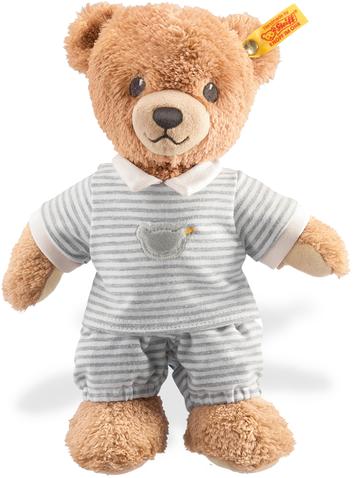 Steiff Sleep Well Well Well Bear grau for Baby with gift box EAN 239908 56ad8d