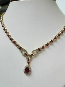 11-00CT-Ruby-and-Diamond-Exquisite-Fancy-Collar-Necklace-14kt-Yellow-Gold-Over